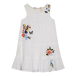 Mantaray - 'Girls' white floral embroidered dress