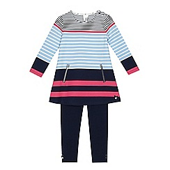 J by Jasper Conran - Girls' multi-coloured striped tunic and leggings set