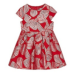 J by Jasper Conran - Girls' red bow print dress