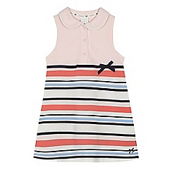 J by Jasper Conran - Girls' pink striped tennis dress