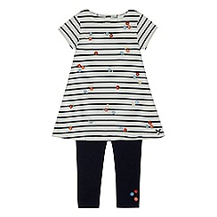 J by Jasper Conran - Girls' white striped print tunic and leggings set