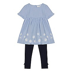 J by Jasper Conran - Girls' blue striped tunic and leggings set