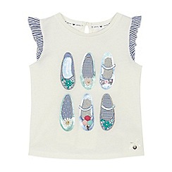 J by Jasper Conran - 'Girls' white shoe embroidered sequin embellished t-shirt