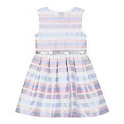 J by Jasper Conran - 'Girls' multi-coloured burn out striped dress