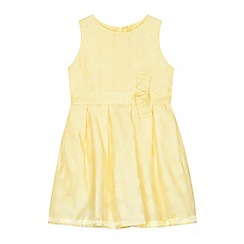 J by Jasper Conran - 'Girls' yellow burn out spotted dress