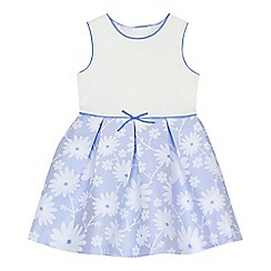 J by Jasper Conran - 'Girls' blue floral textured dress