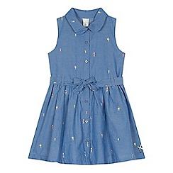 J by Jasper Conran - 'Girls' blue ice cream embroidered shirt dress