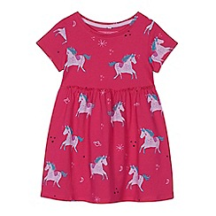 bluezoo - 'Girls' pink unicorn print dress