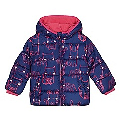 bluezoo - Girls' purple bunny and cat print coat