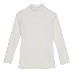 bluezoo - Girls' ivory roll neck jumper
