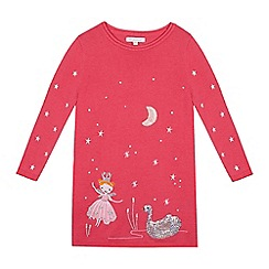 bluezoo - Girls' pink princess embroidered tunic