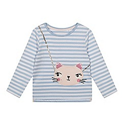 bluezoo - Girl's cat bag embellished long sleeve t-shirt