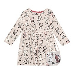 bluezoo - 'Girls' pink cat and mouse print dress and bag set