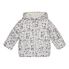 e9e483816bc4e bluezoo - Girls  pale grey mouse and cat print coat
