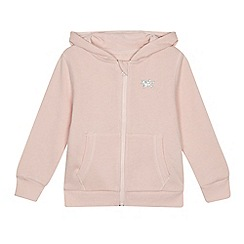 bluezoo - Girls' pink glitter unicorn hoodie
