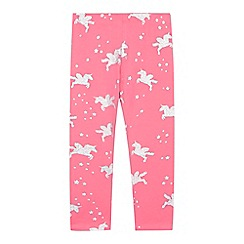 bluezoo - 'Girls' pink glitter unicorn print leggings