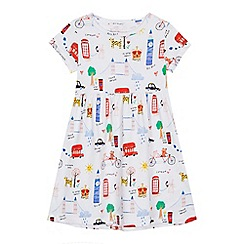 bluezoo - 'Girls' white London print dress