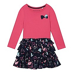 bluezoo - Girls' pink unicorn print rara dress