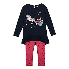 bluezoo - Girls' Multicoloured Sequined Top and Leggings Set