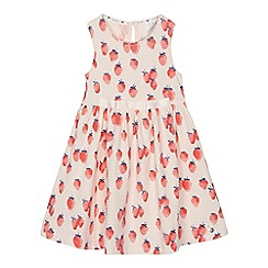 J by Jasper Conran - 'Girls' light pink strawberry print jersey dress