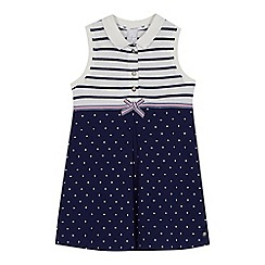 J by Jasper Conran - 'Girls' navy striped and spotted tennis dress