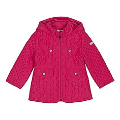 J by Jasper Conran - Girls' light pink quilted shower resistant coat