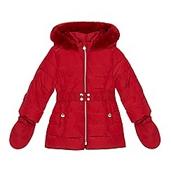 J by Jasper Conran - Girls' red shower resistant padded coat