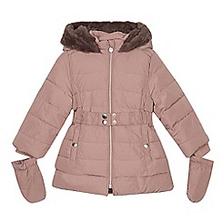 J by Jasper Conran - Girls' pale pink shower resistant padded coat