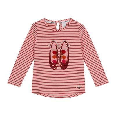 J by Jasper Conran - Girls' pink striped sequinned shoe top