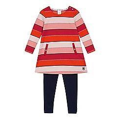 J by Jasper Conran - Girls' multicoloured striped tunic and leggings set