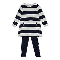 J by Jasper Conran - Girls' navy striped tunic and leggings set