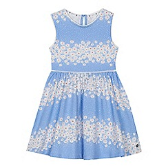 J by Jasper Conran - Girls' blue daisy print jersey dress