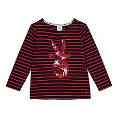 J by Jasper Conran - Girls' multicoloured striped print t-shirt