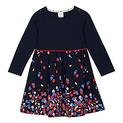 J by Jasper Conran - Girls' navy textured confetti print dress