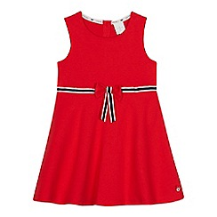 J by Jasper Conran - Girls' red bow detail jersey skater dress