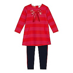 61a93b75c J by Jasper Conran - Girls' red sequinned bow t-shirt and leggings set
