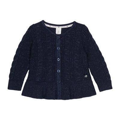 6c62fd97a468 J by Jasper Conran Girls  navy cable knit cardigan