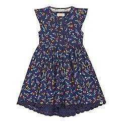 Mantaray - 'Girls' navy floral print jersey dress