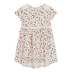 Mantaray - 'Girls' pink bird print dress