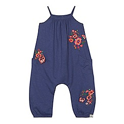 Mantaray - 'Girls' navy floral embroidered jumpsuit