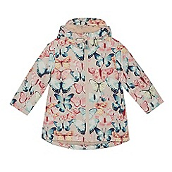Mantaray - Girls' multicoloured butterfly print waterproof jacket