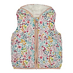 Mantaray - Girls' cream floral print gilet