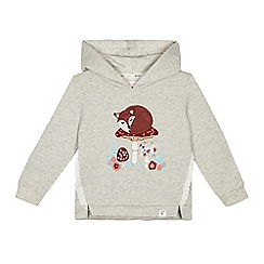 Mantaray - 'Girls' grey woodland applique hoodie
