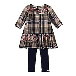 Mantaray - 'Girls' multi-coloured checked dress and leggings set