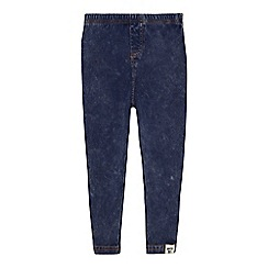 Mantaray - 'Girls' blue wash print leggings
