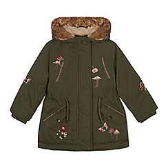 Mantaray - Girls' Khaki Embroidered Parka