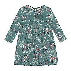 Mantaray - Girls' green dragonfly print dress