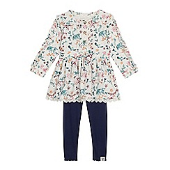 Mantaray - Girls' Multicoloured Animal Print Tunic and Leggings Set