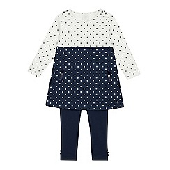 J by Jasper Conran - Girls' Navy Spotted Tunic and Leggings Set