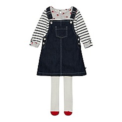 J by Jasper Conran - Girls' Navy Denim Pinafore and Top Set